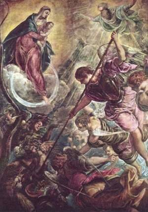 Jacopo Tintoretto (Robusti) - Archangel Michael Fights Satan, c.1590