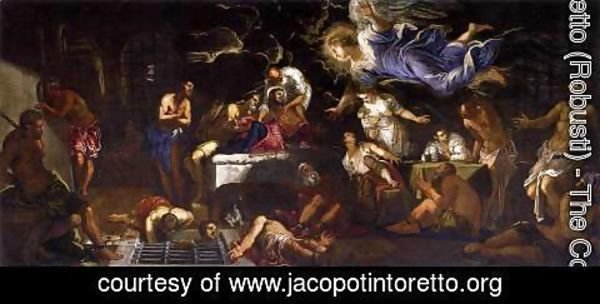 Jacopo Tintoretto (Robusti) - St. Roch Visited by an Angel in Prison, 1567