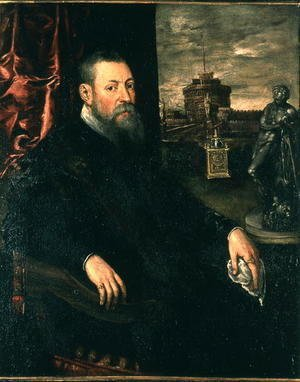 Jacopo Tintoretto (Robusti) - Portrait of Collector, 1560-65