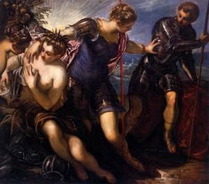 Jacopo Tintoretto (Robusti) - Minerva Repelling Mars, 1578