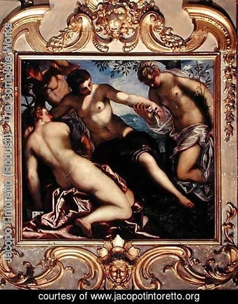 Jacopo Tintoretto (Robusti) - Mercury and the Three Graces, 1578