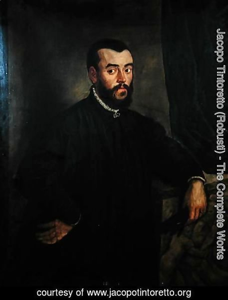 Jacopo Tintoretto (Robusti) - Portrait of Andreas Vesalius 1514-64