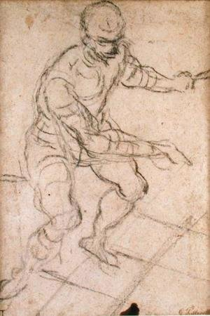 Jacopo Tintoretto (Robusti) - Seated Man seen from Above