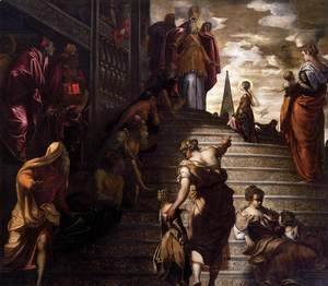Jacopo Tintoretto (Robusti) - The Presentation of the Virgin, 1552