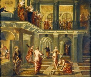 Jacopo Tintoretto (Robusti) - The Parable of the Wise and Foolish Virgins