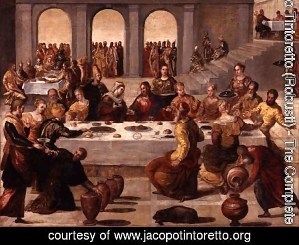 Jacopo Tintoretto (Robusti) - The Wedding Feast at Cana, c.1545