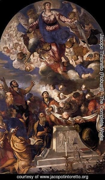 Jacopo Tintoretto (Robusti) - The Assumption of the Virgin, 1555
