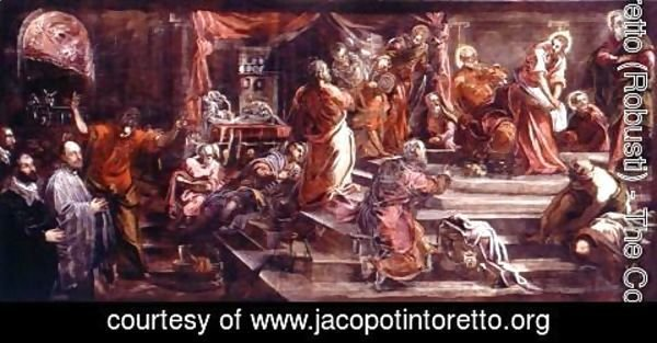 Jacopo Tintoretto (Robusti) - The Washing of the Feet