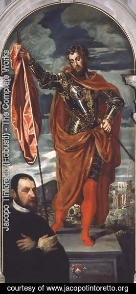Jacopo Tintoretto (Robusti) - St. Demetrius and a Donor from the Ghisi Family