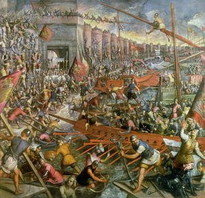 Jacopo Tintoretto (Robusti) - The Capture of Constantinople in 1204