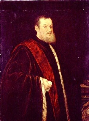 Jacopo Tintoretto (Robusti) - Portrait of Andrea Cappello