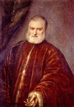 Jacopo Tintoretto (Robusti) - Portrait of Antonio Cappello