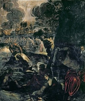 Jacopo Tintoretto (Robusti) - The Baptism of Christ 2