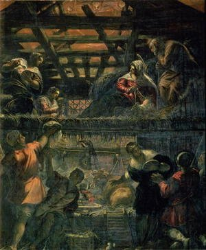 Jacopo Tintoretto (Robusti) - The Adoration of the Shepherds, 1578-81