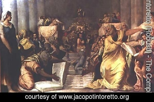 Jacopo Tintoretto (Robusti) - Christ Among the Doctors, early 1540s