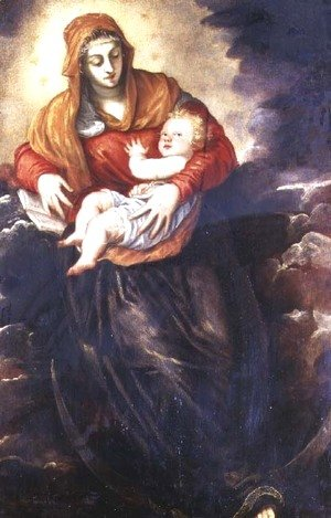 Jacopo Tintoretto (Robusti) - Madonna and Child