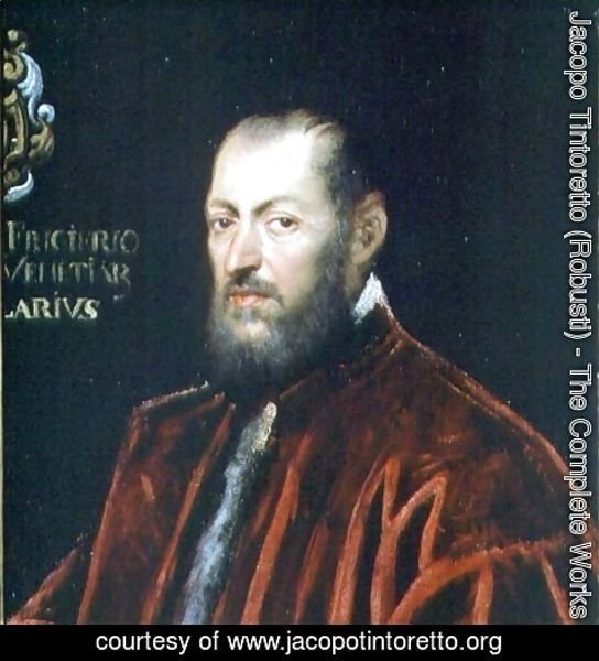 Jacopo Tintoretto (Robusti) - Portrait of Andrea Frizier, Grand Chancellor of Venice