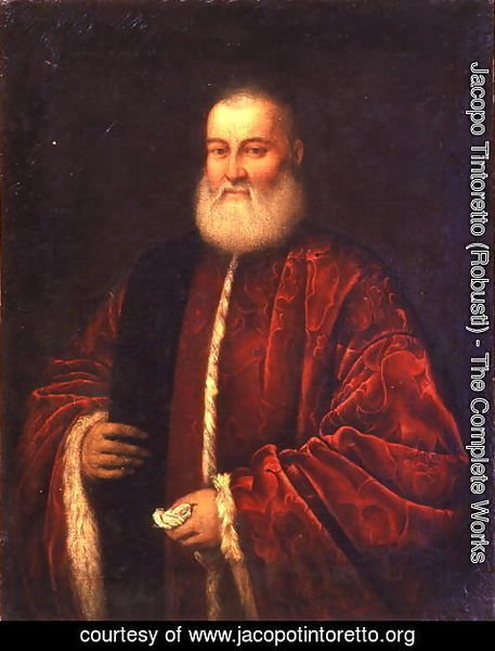 Jacopo Tintoretto (Robusti) - Portrait of an Old Man in Red Robes