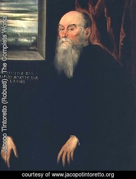 Jacopo Tintoretto (Robusti) - Portrait of Vincenzo Zeno