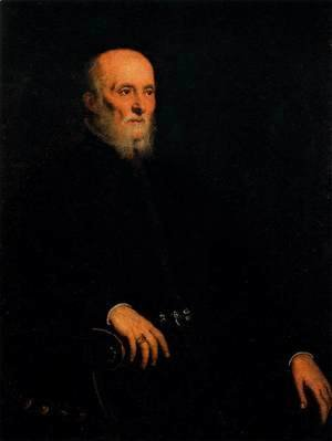Jacopo Tintoretto (Robusti) - Portrait of Alvise Cornaro