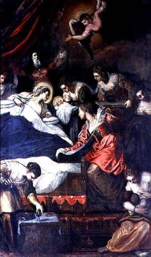 Jacopo Tintoretto (Robusti) - Birth of the Virgin