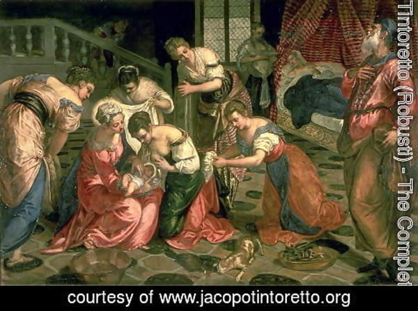 Jacopo Tintoretto (Robusti) - The Birth of St. John the Baptist, 1550-59