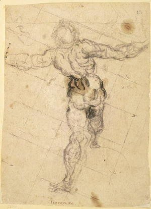 Jacopo Tintoretto (Robusti) - Study of a Male Nude from Behind, c.1577