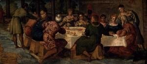 Jacopo Tintoretto (Robusti) - King Belshazzars Banquet, c.1543-44