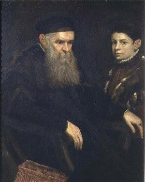 Jacopo Tintoretto (Robusti) - Old man and his servant, 1565
