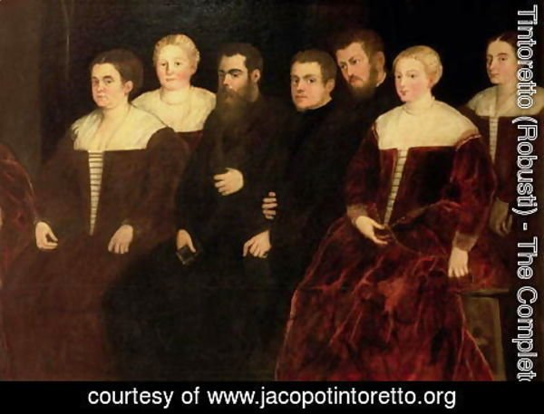Jacopo Tintoretto (Robusti) - Seven members of the Soranzo Family