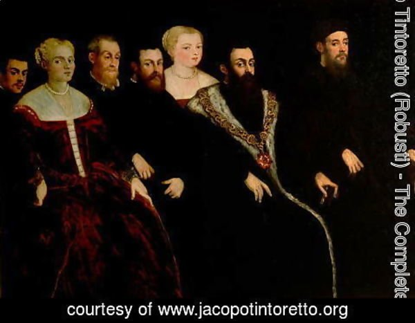 Jacopo Tintoretto (Robusti) - Seven members of the Soranzo Family 2