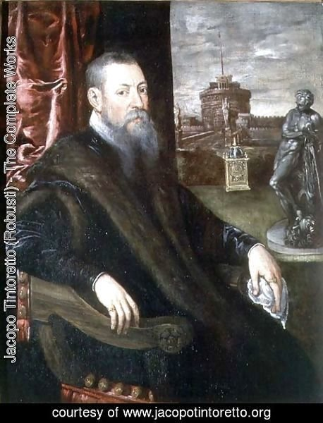 Jacopo Tintoretto (Robusti) - Portrait of an Art Collector