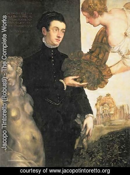 Jacopo Tintoretto (Robusti) - Ottavio Strada 1549-50-1612, designer of jewellery, miniaturist and archaeologist, son of Jacopo Strada 1515-88