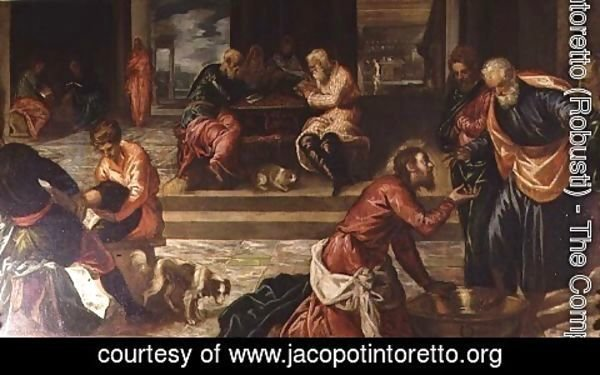 Jacopo Tintoretto (Robusti) - Christ Washing the Feet of the Disciples 2