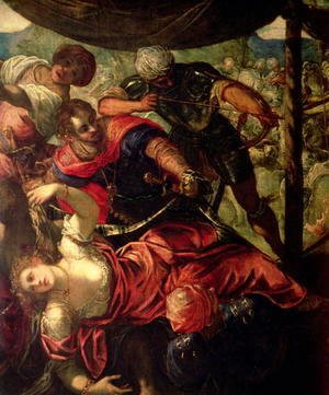 Jacopo Tintoretto (Robusti) - Battle between Turks and Christians, c.1588-89