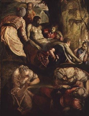Jacopo Tintoretto (Robusti) - Deposition of Christ, late 1550s