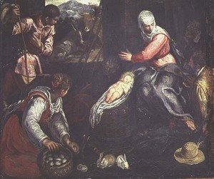 Jacopo Tintoretto (Robusti) - The Adoration of the Shepherds, c.1578