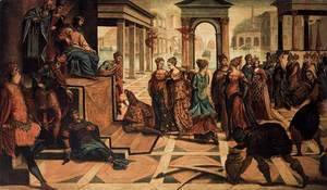 Jacopo Tintoretto (Robusti) - Solomon and the Queen of Sheba