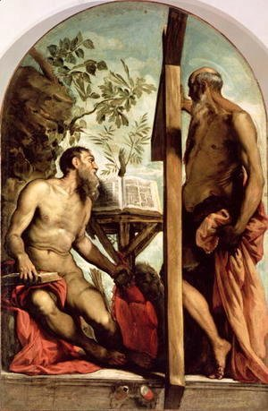 Jacopo Tintoretto (Robusti) - St. Andrew and St. Jerome
