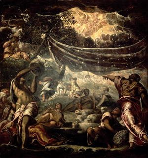 Jacopo Tintoretto (Robusti) - The Fall of Manna