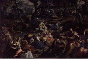 Jacopo Tintoretto (Robusti) - The Miraculous Fall of Manna