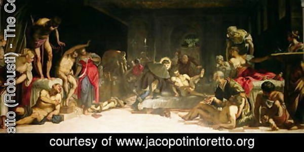 Jacopo Tintoretto (Robusti) - St. Roch Curing the Plague