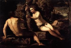 Jacopo Tintoretto (Robusti) - The Temptation of Adam and Eve