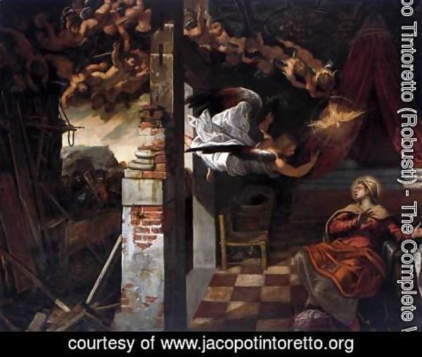 Jacopo Tintoretto (Robusti) - The Annunciation 2
