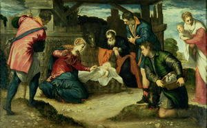 Jacopo Tintoretto (Robusti) - The Adoration of the Shepherds, 1540s