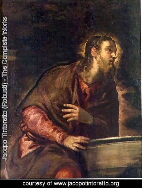 Jacopo Tintoretto (Robusti) - Christ at the Well, c.1560