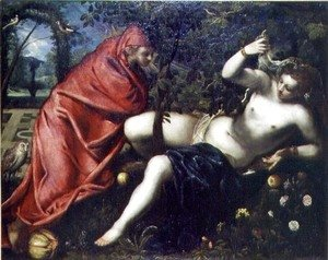 Jacopo Tintoretto (Robusti) - Angelica and the Hermit