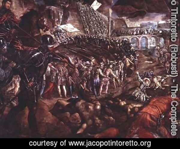 Jacopo Tintoretto (Robusti) - The Capture of Parma, c.1570