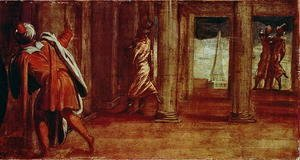 Jacopo Tintoretto (Robusti) - The Prostration of Bathsheba, c.1548