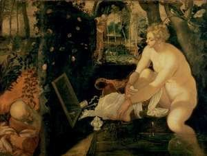 Jacopo Tintoretto (Robusti) - Susanna Bathing, 1555-56